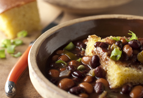 Two-Bean Soup with Cornbread