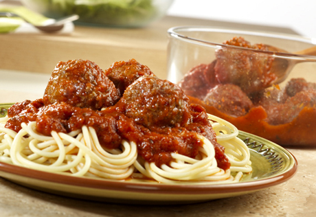 Easy ground beef meatball recipe spaghetti