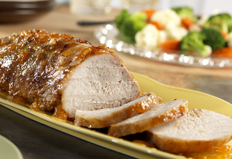 Slow-Cooked Apricot Glazed Pork Roast