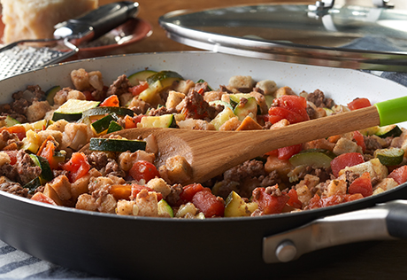 Beefy Vegetable Skillet