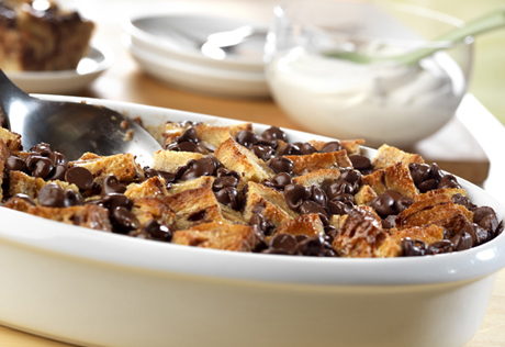 Chocolate-Cinnamon Swirl Bread Pudding