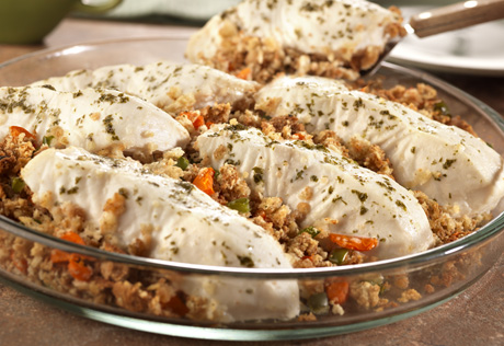 Fish Stuffing Bake