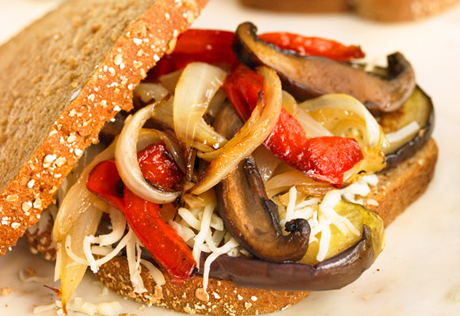 Pan-Grilled Veggie & Cheese Sandwiches