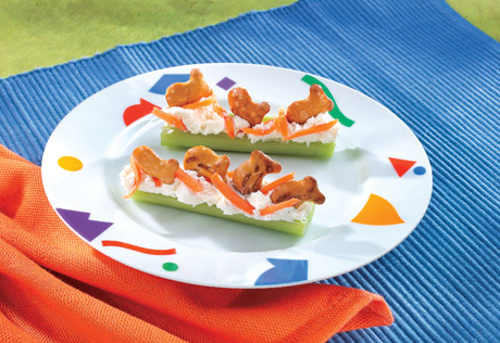 Celery Cheese Boats