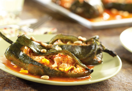 Stampede Shrimp-Stuffed Poblanos