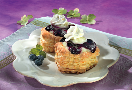 Blueberries Vol-au-Vent