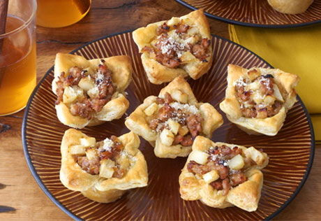 Savory Sausage Apple Tarts