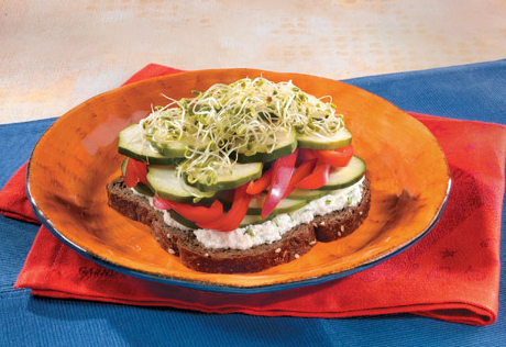 Open-Faced Veggie-Sprout Sandwiches