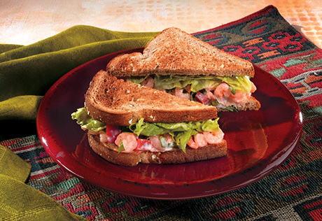 Mexican Shrimp Salad Sandwiches