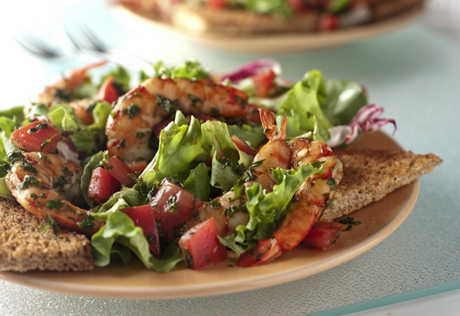 Tuscan Shrimp Salad with Toast Points