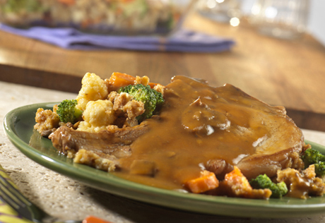 Baked Pork Chops with Garden Stuffing