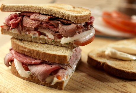 Sweet Onion and Roast Beef Sandwich