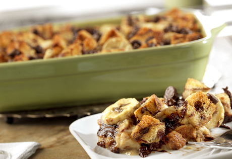 Banana Swirl Bread Pudding