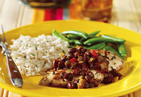 Grilled Citrus Chicken with Black Bean Salsa