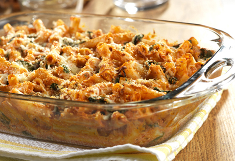 ziti baked spinach recipe cheese ricotta three recipes casserole healthy pasta bake italian sausage later delight campbells meat save valuable