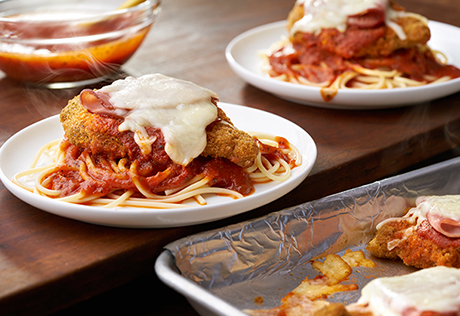 Ham & Cheese Chicken Parmesan