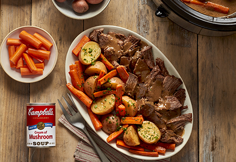 Easy Slow Cooker Pot Roast Recipe Campbell S Kitchen