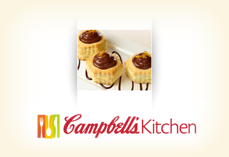 Caramel Whipped Chocolate Pudding Shells