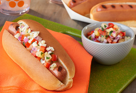 Hawaiian-Style Hot Dogs