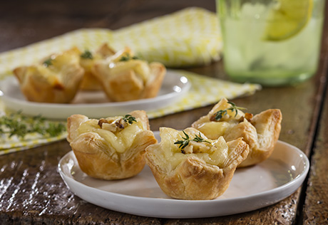 Brie and Walnut Tartlets