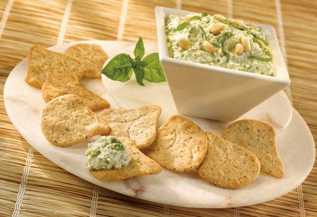 Pesto Cottage Cheese Dip