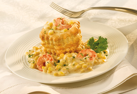 Creamy Shrimp & Corn Stew in Shells