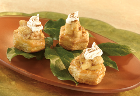 Petite Bananas Foster Pastry Cups