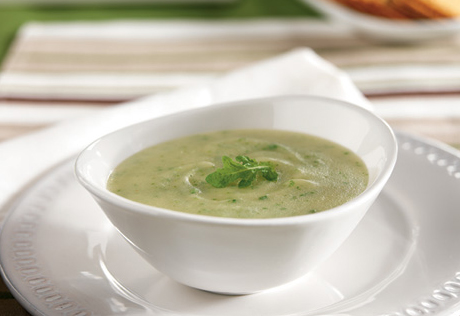 Potato Soup with Arugula