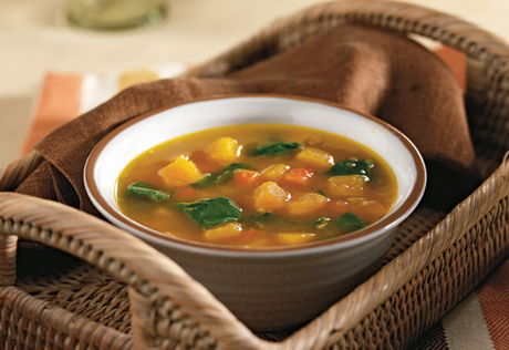 Butternut Squash & Baby Spinach in a Savory Broth