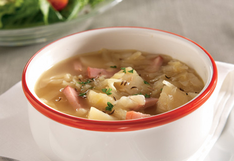 Easy ham and cabbage soup recipe
