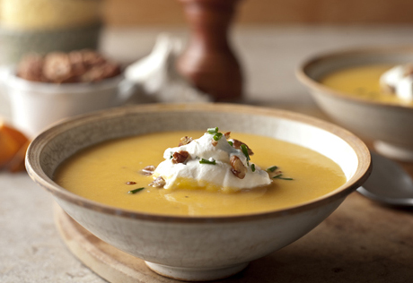 Sweet Potato & Pecan Soup