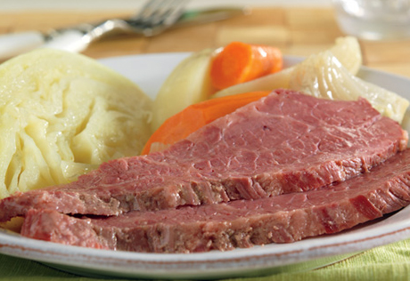 Slow Cooked Corned Beef  Cabbage
