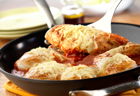 3 Step Easy Skillet Chicken Parmesan