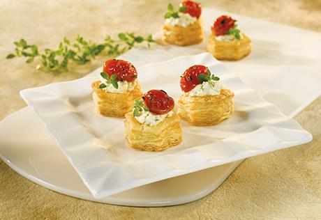 Herbed Cheese & Roasted Tomato Cups