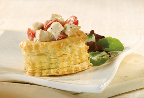Creamy Caesar Chicken in a Shell