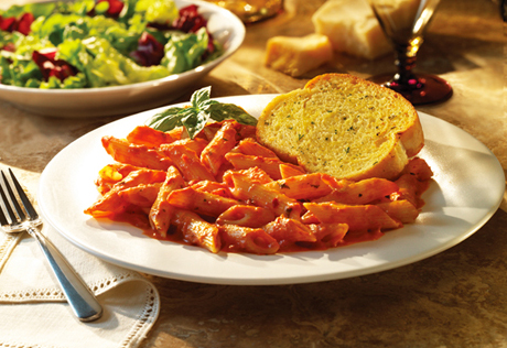 Penne alla Fresco with Texas Toast