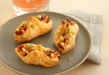 Goat Cheese, Cranberry Chutney & Toasted Walnut Envelopes