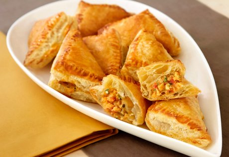 Potato Salsa Samosas