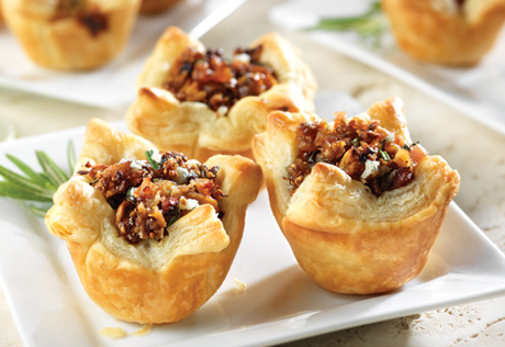 Campbell's Honeyed Fig, Pancetta & Blue Cheese Tartlets Recipe