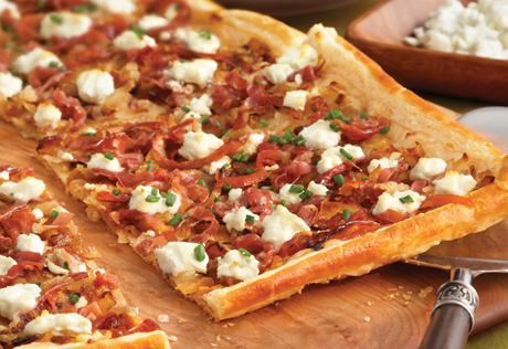 Caramelized Onion and Prosciutto Tart