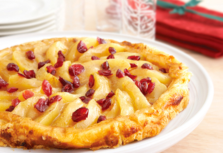 Apple Cranberry Tarte Tatin