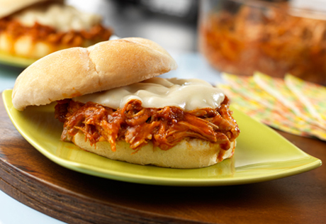 Slow-Cooker Pulled Pork & Provolone Sandwiches
