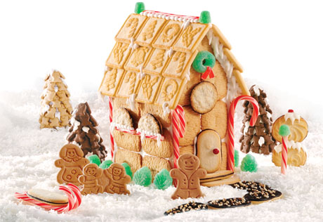Ginger Family Cookie House