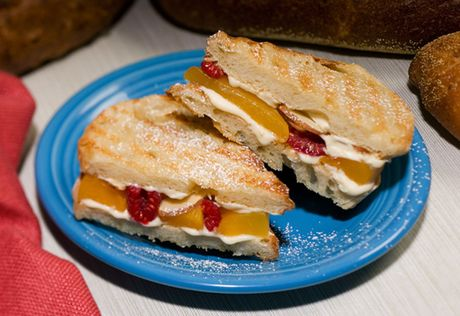 Country White Peach Melba Panini