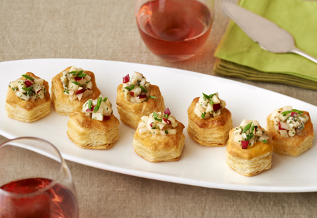 Pear, Gorgonzola & Honey Cups