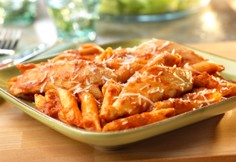 Creamy Chicken Penne in Sun-Dried Tomato Sauce