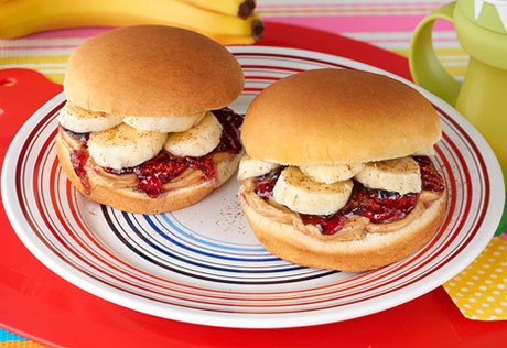 Peanut Butter & Jelly Sliders