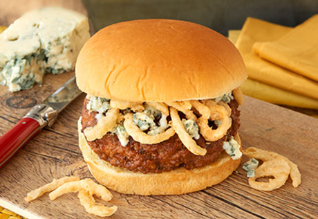 Blue Cheese Steakhouse Burgers
