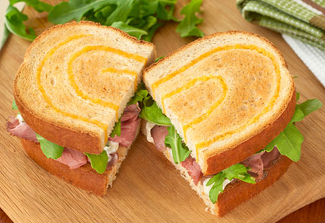 Roast Beef & Arugula on Asiago Bread