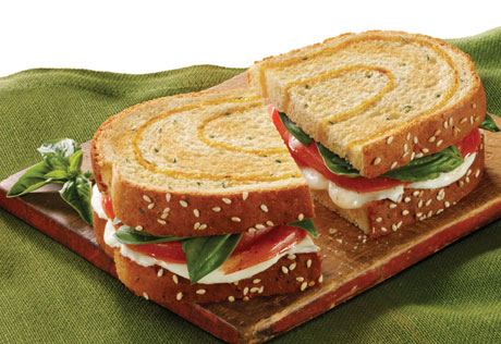 Caprese Sandwich on 3-Cheese Bread